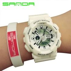 Sanda Thương Hiệu Đồng màu dây đeo đôi màn hình kim đôi đồng hồ điện tử 29201-qu ốc tế