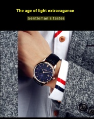 SANDA Brand Watch Quartz Watches Fashion Casual Genuine Leather Waterproof Calendar Male Watch Relogio Masculino P204 – intl