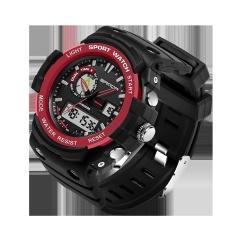 Sanda Brand Watch Waterproof Dual Time Digital Sport Multi Function Quartz Shock Wristwatches For Men Boy Mountain Watches 735 – intl