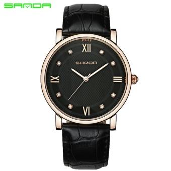 Giá Sốc SANDA Top Brand Luxury Watch Jam Tangan Men Fashion Casual Business Leather Bracelet Clock Geneva Dress Watch Jam Tangan es 2017 New Erkek Kol Saati 197 – intl