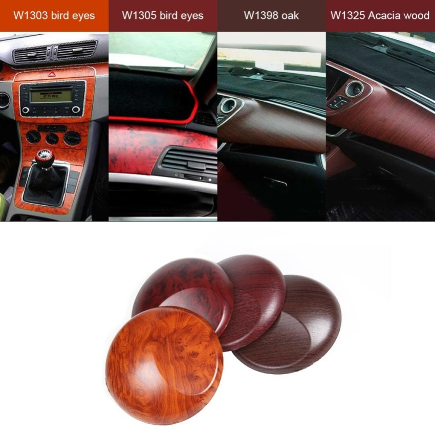 self adhesive wood grain textured car interior film panel wrap stickers gi 155 800. Black Bedroom Furniture Sets. Home Design Ideas