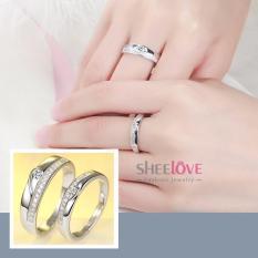 Giá SHEELOVESHOP-Nhẫn đôi tình yêu đính đá Zircon free size thời trang (1 CẶP)