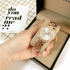 [SIÊU GIẢM GIÁ] Đồng hồ nữ thương hiệu GUOU mặt số đính đá dây thép thời trang G42-3