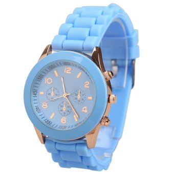 Silicone Jelly Quartz Sports Wrist Watch - intl