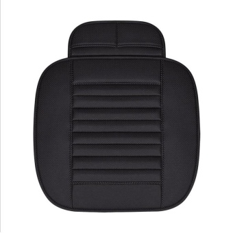 Simple wear-resistant bamboo charcoal car single seat cushion no back four seasons common - intl
