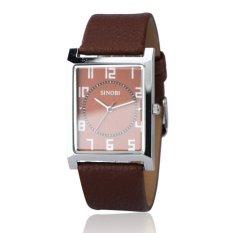 Sinobi TP012 – Đồng hồ nam dây da (Nâu)