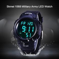Đồng hồ nam Quân Sự năm 1068 Quân Đồng Hồ LED Chống Nước Đồng Hồ Bấm Giờ Báo Thức Ngày Chức Năng Ngày-quốc tế