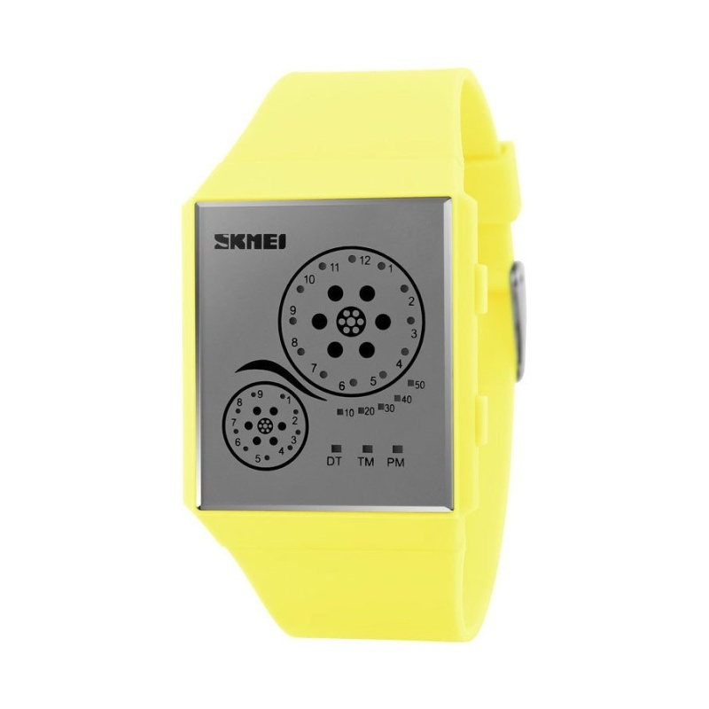 Nơi bán Skmei 1073 Unisex Sports Watch With LED (Yellow)