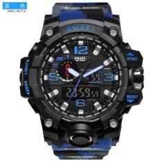 Giá Sốc SMAEL 1545 Waterproof Camouflage Military PU Digital Watch LED Digital Dual Display Electronic Watch Blue – intl  Five Star Store
