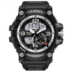 SMAEL 1617 LED Digital Watch Digital Analog Dual Display Japan Movement Men Watch Black – intl
