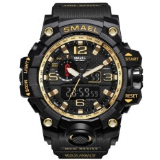 SMAEL Brand Watch 1545 Men's Watches New Style Brand Men LED Digital Quartz Watch Waterproof All Black Military Sport Man Clock Relogio Masculino – intl