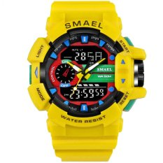 SMAEL Watch 1436 LED Digit Sport Watches Men 50M Waterproof S Shock Dual Time Casual Watches Military relogio masculino 1436 – intl
