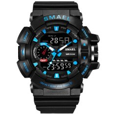 SMAEL Watch 1436 Men Gold Sports Watches LED Dual Display Outdoor Waterproof Watch S-SHOCK New Male Electronic Wristwatch 1436 – intl