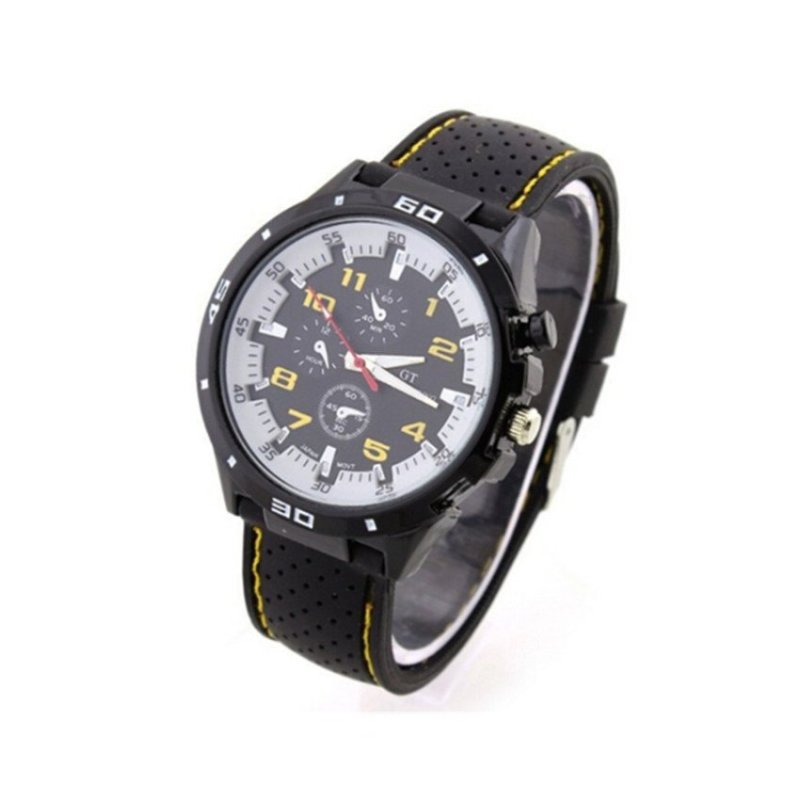 Nơi bán Sport Military Army Cool Wristwatch Yellow(Not Specified)(OVERSEAS) - intl