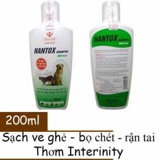 Sữa Tắm Trị Ve Ghẻ Rận Tai Bọ Chét Chó Mèo – Hantox 200ml (Xanh)