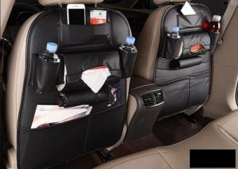 Tấm da treo đồ ghế sau ô tô 64x47 Cm (Đen)