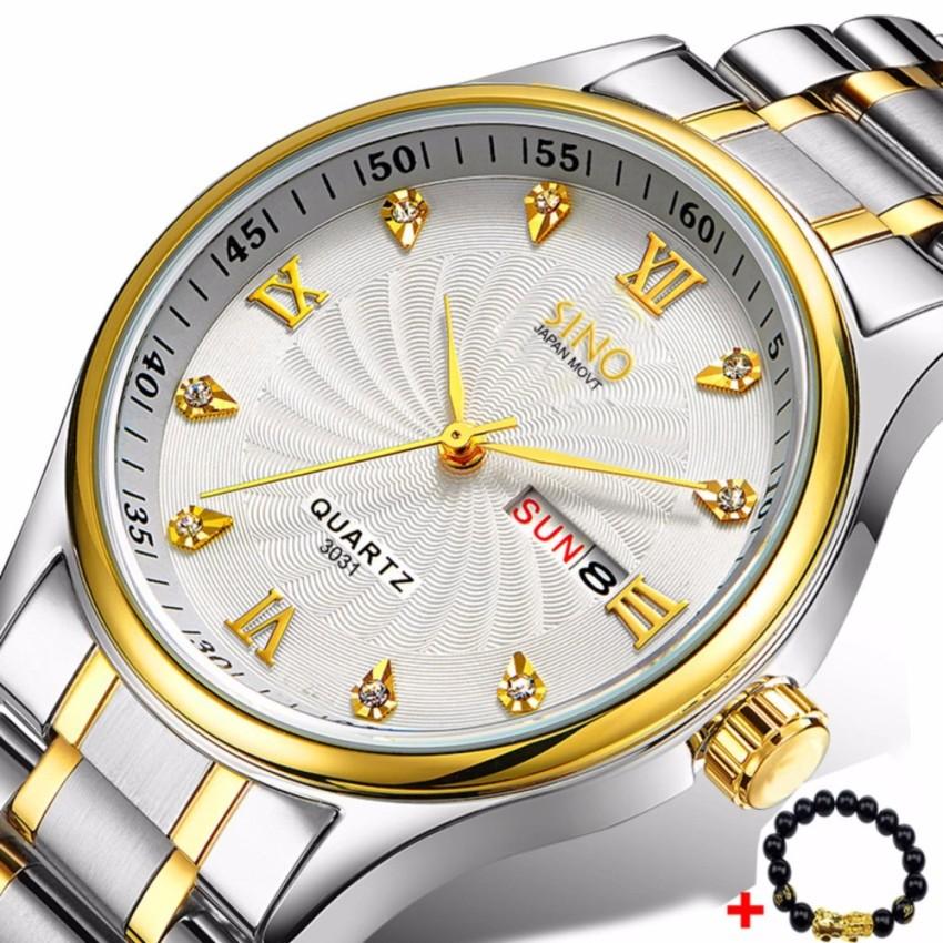 (Tặng tỳ hưu mạ vàng)Đồng hồ nam dây thép không gỉ cao cấp SINO Japan S3031