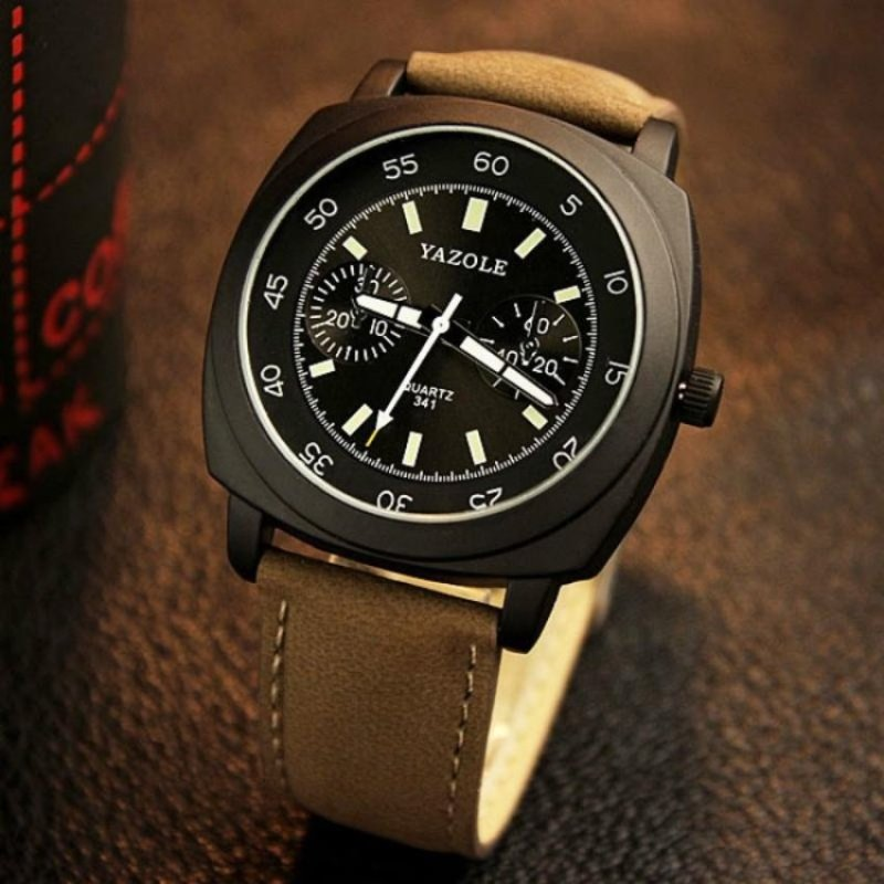 Nơi bán The New Trend of Men Luminous Retro Art Wind Students Watch(Black) - intl