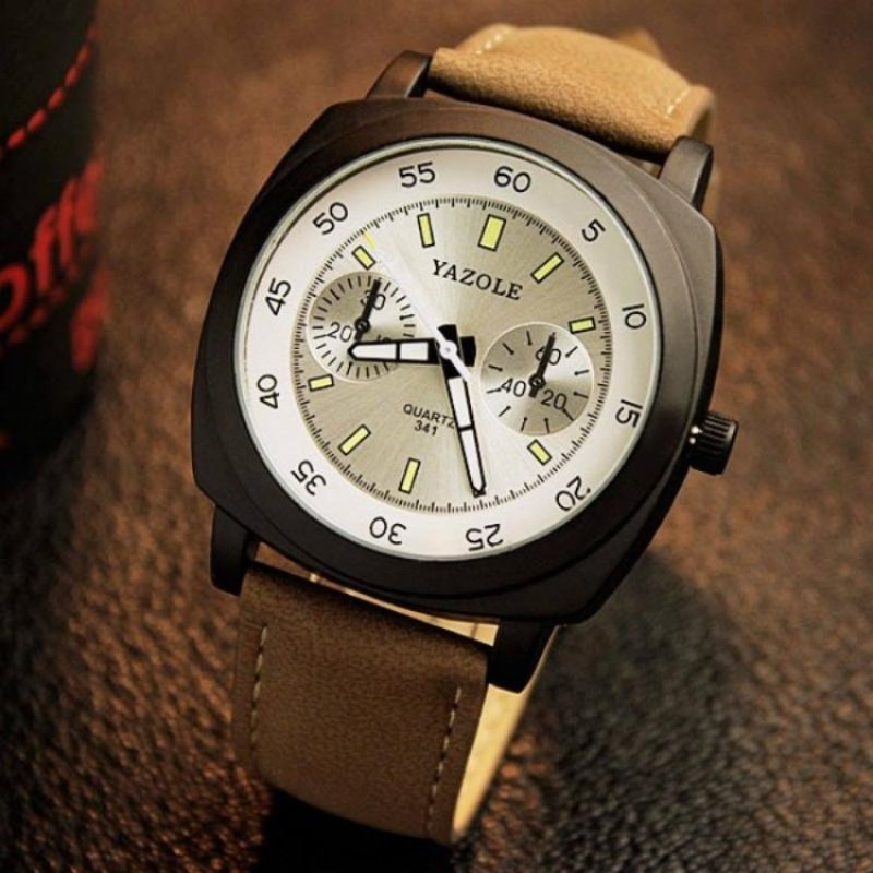 Nơi bán The New Trend of Men Luminous Retro Art Wind Students Watch(White) - intl