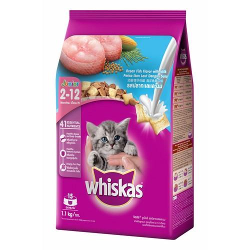 Chỗ nào bán Thức Ăn Cho Mèo Con Whiskas Vị Cá Biển Và Sữa Dạng Túi 1.1 Kg