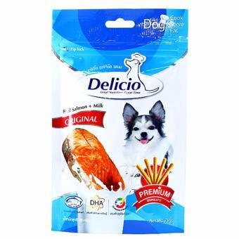 Thức ăn vặt cho chó mèo vị cá hồi và sữa hiệu Goodies Snack Delicio Milk