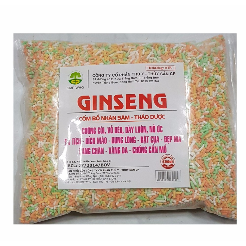 Thuốc nhân sâm tăng lực cho gà đá, ra lông, đẹp mã cho chim cảnh- Ginseng 100g