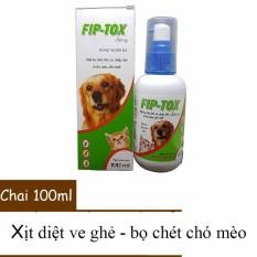 Thuốc Phun Xịt Bọ Chét Ve Chó Mèo – Hanvet Fiptox 100ml