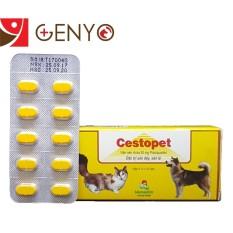 Thuốc tẩy giun sán cho chó mèo – Thuốc tẩy giun đũa chó mèo – Vemedim Cestopest Vỉ 10 viên