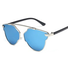 TOP SALE Unisex Men Women Vintage Style Fashion Mirror Sunglasses UV 400 (Blue) – intl