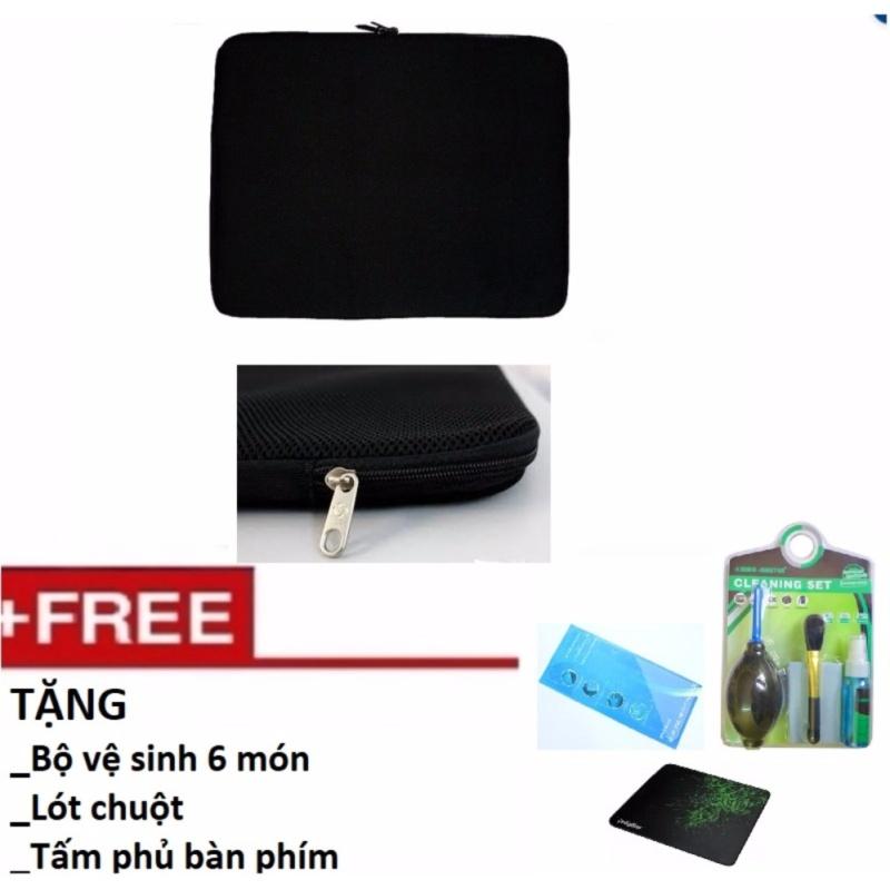 Túi chống sốc Laptop 14 inch Tặng Bộ vệ sinh 6 món, Lót chuột, Phủ bàn phím
