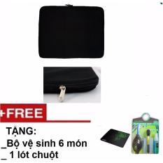 Túi chống sốc Laptop 15 inch Tặng Bộ vệ sinh 6 món, lót chuột
