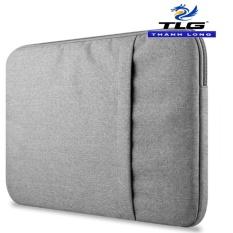 Túi chống sốc Macbook cao cấp 13 inch Đồ Da Thành Long TLG 189 (Ghi xám) tặng 01 bút bi cao cấp TLG K 410