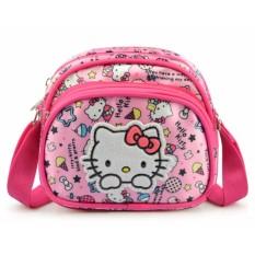Túi xách đeo chéo mini họa tiết mèo hồng dễ thương đáng yêu cho bé gái + Tặng 1 băng đô turban nhung cao cấp