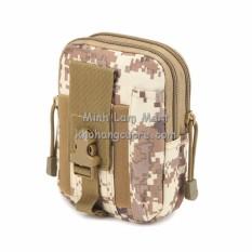 Túi đeo hông đựng điện thoại và đồ dùng cá nhân EDC phong cách chất liệu vải dù chống nước (Màu Digital Desert) + Tặng 01 móc gắn đỡ điện thoại đa năng