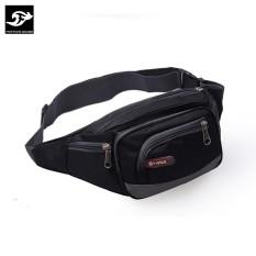 Túi đeo hông CỠ LỚN, 6 NGĂN tiện lợi Fortune Mouse 1118 (Đen)