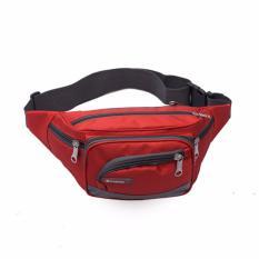 Túi đeo hông CỠ LỚN, 6 NGĂN tiện lợi Fortune Mouse 1118 (Đỏ)