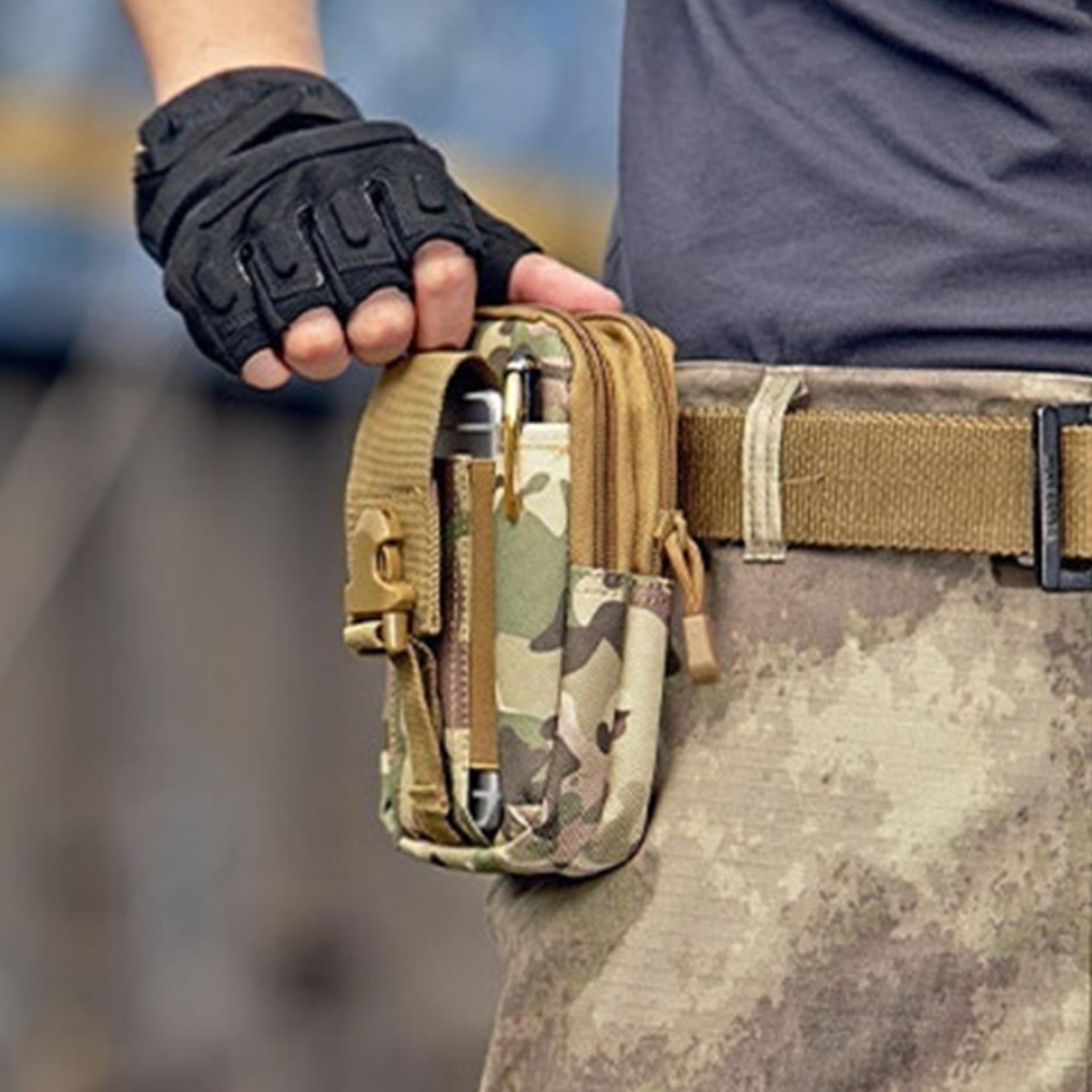 Túi đeo hông,thắt lưng đựng điện thoại h03 Đồ Da Thành Long TLG (lính)
