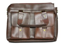 Túi đeo vai 2 ngăn ngoài PeepVN Togo (Nâu đen)