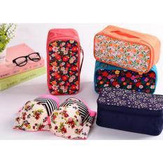 Túi Đồ Lót Hoa Mới -nền hồng