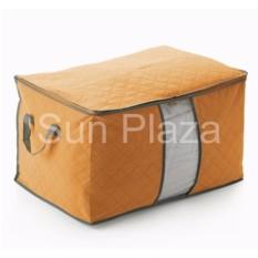 Túi đựng chăn màn quần áo (Cam) – Túi đựng quần áo du lịch- Túi vải đựng đồ đa năng loại lớn nằm ngang