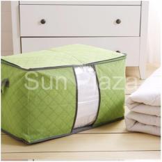 Túi đựng chăn màn quần áo (Xanh Lá) – Túi đựng quần áo du lịch- Túi vải đựng đồ đa năng loại lớn nằm ngang