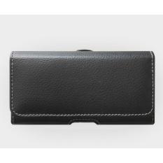 túi đựng điện thoại đeo thắt lưng ngang màn hình 5.5inch bằng da Cao cấp (đen)