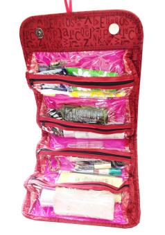 Túi đựng đồ du lịch 4 ngăn chống thấm Roll-N-Go Cosmetic Bag (Đỏ)