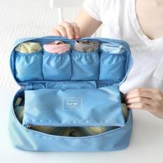 Túi đựng đồ lót du lịch cao cấp chống thấm oxford 903 1a (Xanh lam) tặng 01 bút bi cao cấp TLG K 410