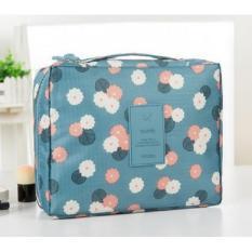 Túi đựng đồ trang điểm đa năng màu xanh blue