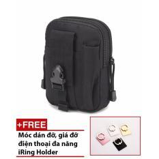 Túi EDC đeo hông du lịch chống nước (Màu đen)