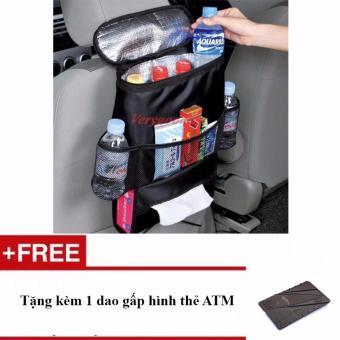 Túi giữ nhiệt treo lưng ghế ô tô + Tặng kèm 1 dao gấp hình thẻ ATM