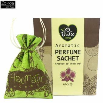 Túi thơm khử mùi treo xe hơi hương hoa lan Aromatic - Thái Lan