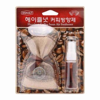 Túi thơm và Tinh dầu hương Cafe Hazelnut treo trên xe hơi TI231