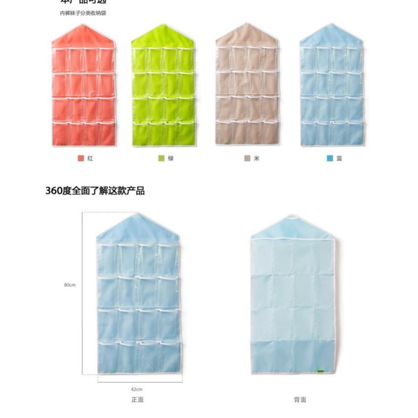 Túi vải treo đựng đồ cá nhân 16 ngăn siêu tiện lợi